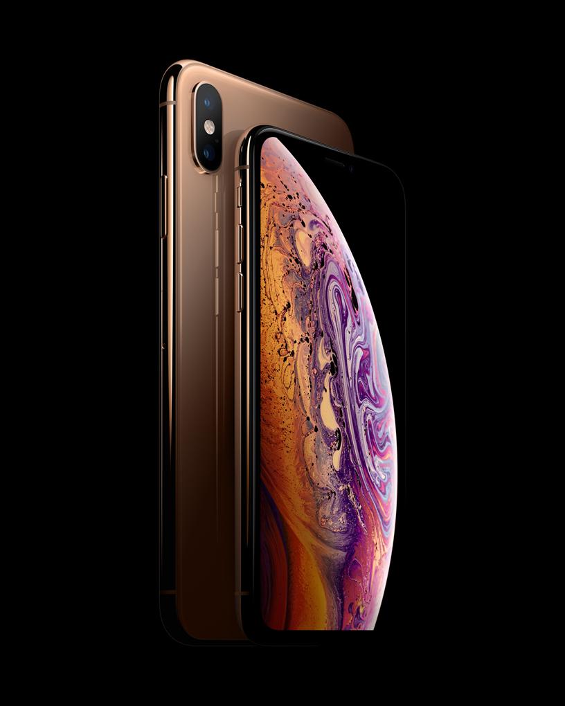 iPhone Xs 置于 iPhone Xs Max 之前。