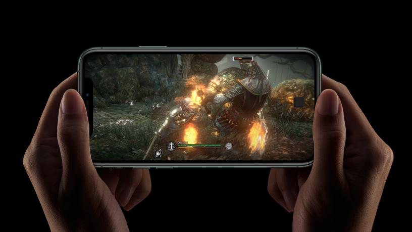 iPhone 上的游戏屏幕。