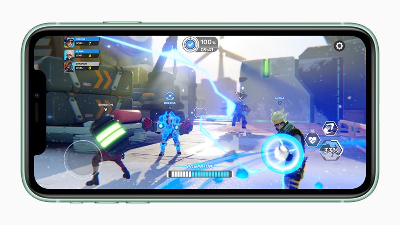 iPhone 的游戏屏幕。