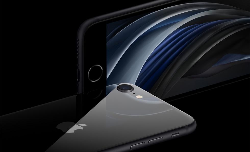 黑色 iPhone SE。