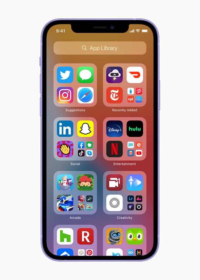 在搭载 iOS 14 的 iPhone 12 上,App 资源库位于主屏幕页的最后。