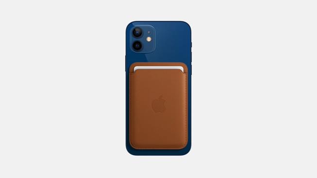 适用于 iPhone 的 MagSafe 皮革卡包。