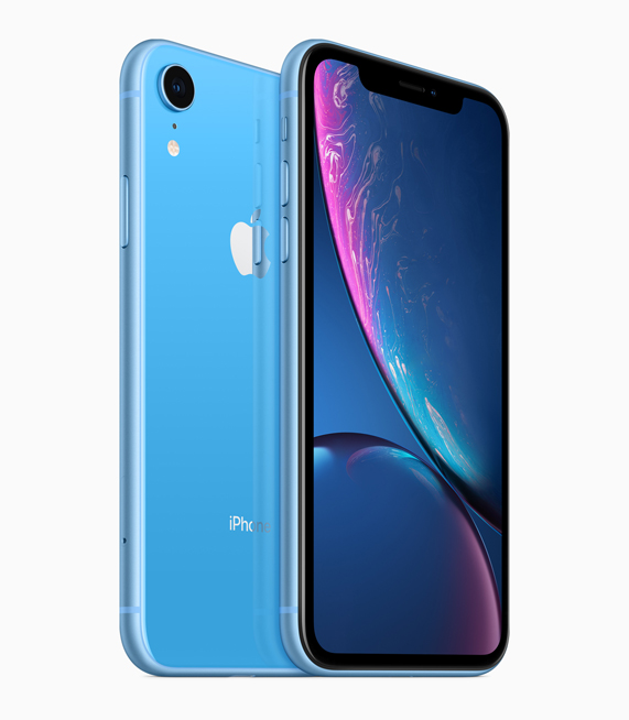 iPhone XR 蓝色外观。