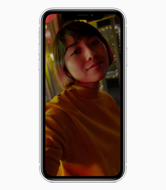 iPhone XR 展示人像模式。