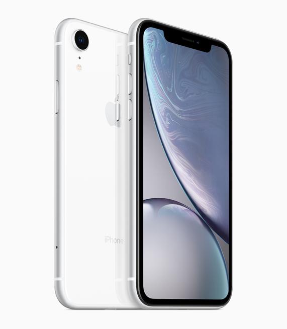 iPhone XR 白色外观。