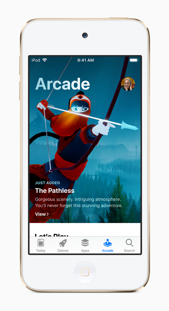 Apple Arcade game on iPod touch.