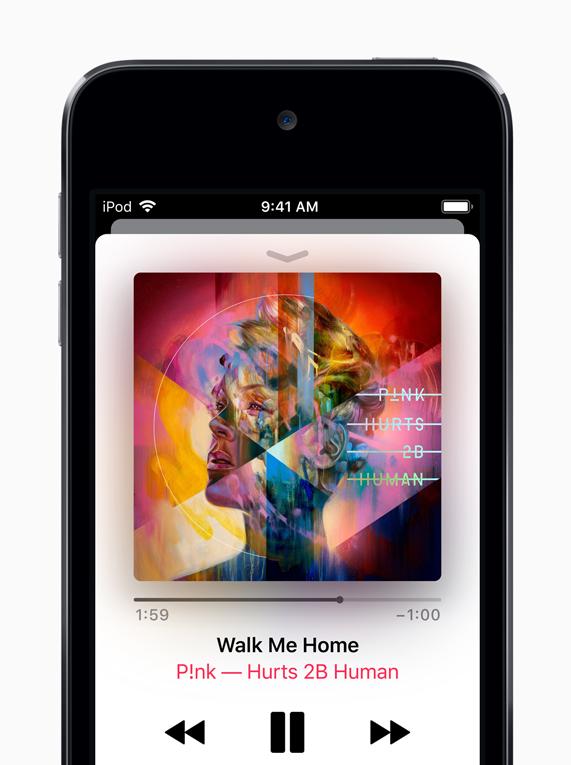 iPod touch 上的 Apple Music 界面。