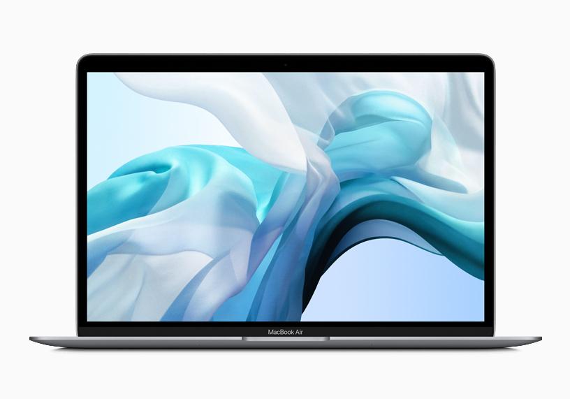 MacBook Air 的视网膜显示屏加入了原彩显示技术。