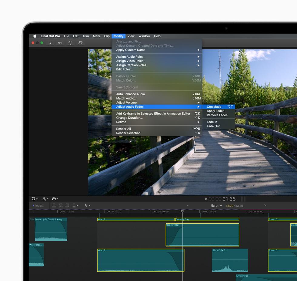 Final Cut Pro 中新的剪辑工作流程。