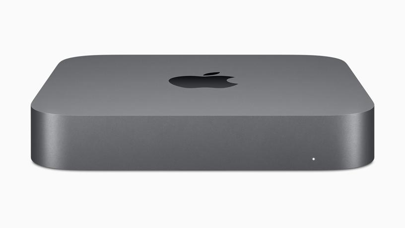 全新深空灰色 Mac mini 图像。