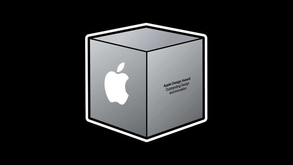 Apple Design Award 奖杯的图像。