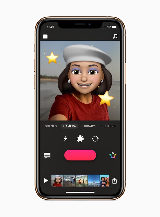 iPhone 11 Pro 可立拍中的拟我表情。