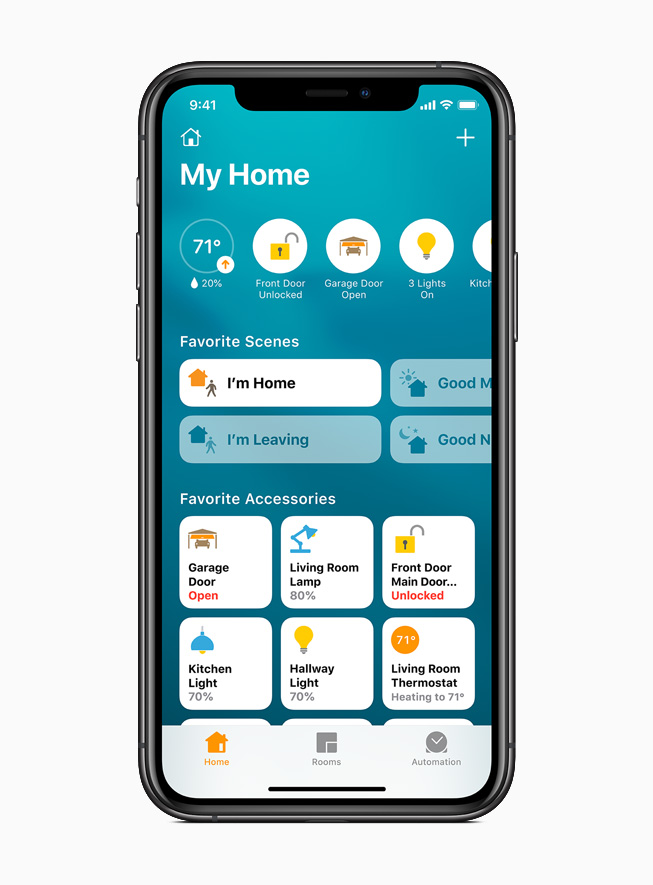 iPhone 11 Pro 上显示家庭 app。