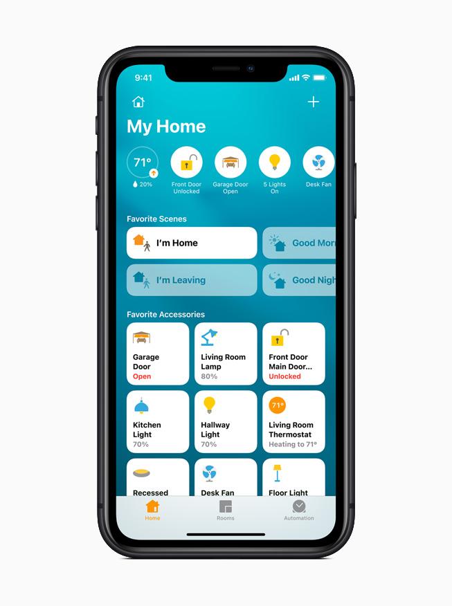 iOS 14 中新的家庭 app。