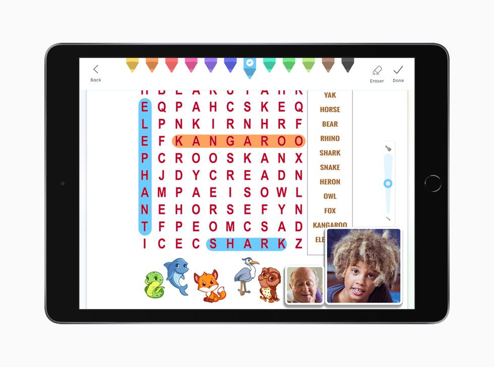 展示在 iPad Pro 上的 Caribu app。