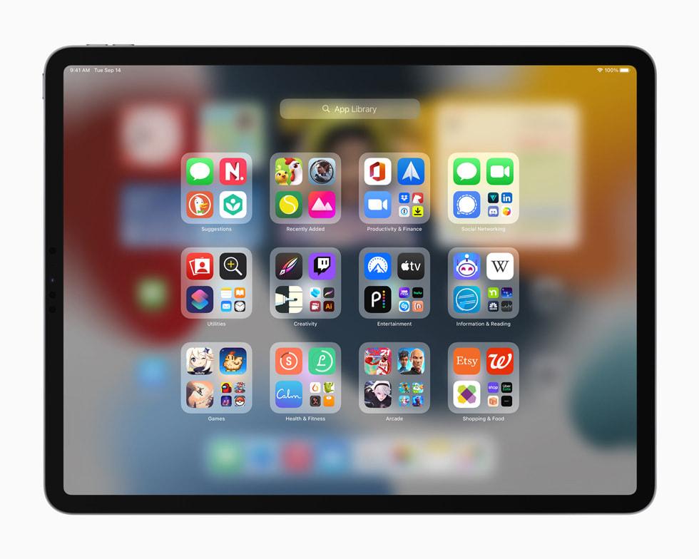 iPad Pro 新增 App 资源库。