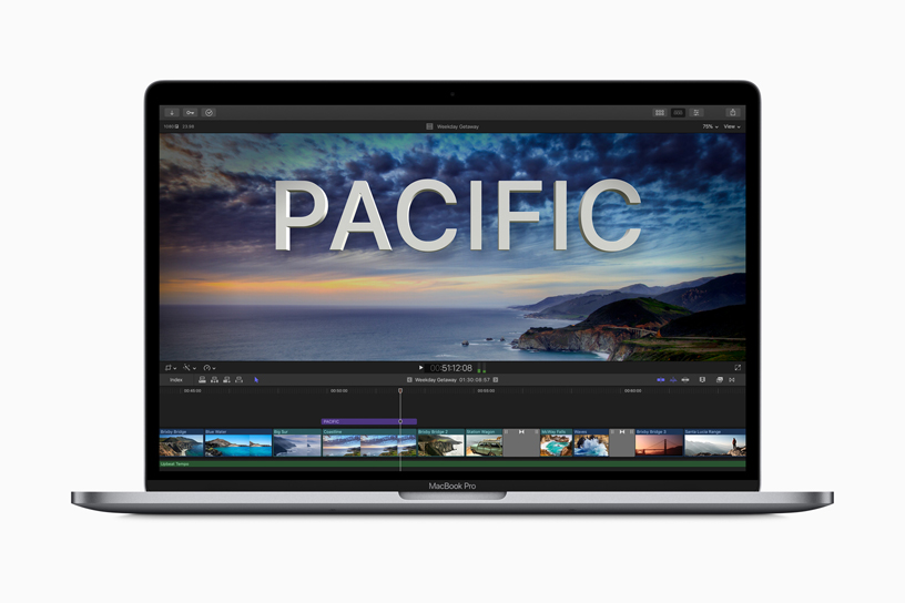 MacBook Pro 上的 Final Cut Pro X。