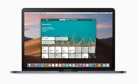MacBook Pro 桌面上的家庭 app。