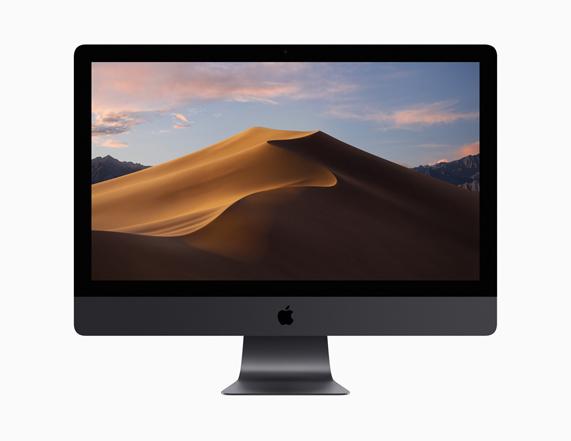 iMac Pro 显示白天的动态桌面。