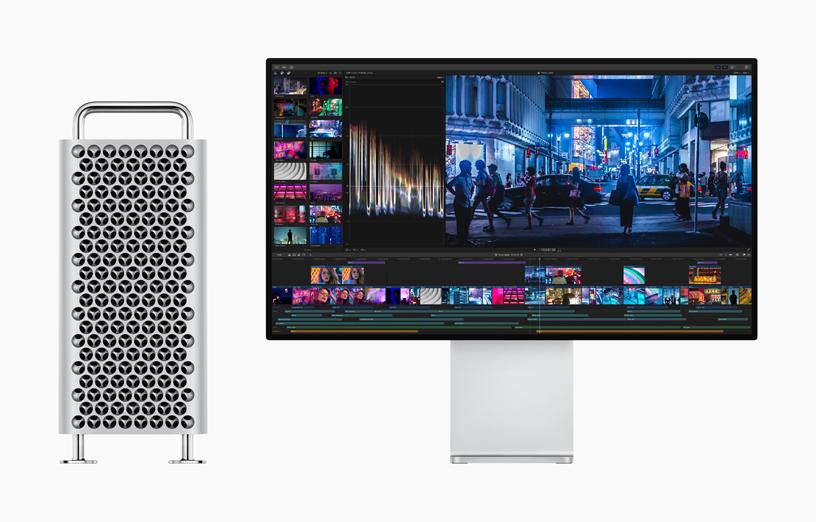 搭配 Mac Pro 的 Pro Display XDR 上展示的 Final Cut Pro X。