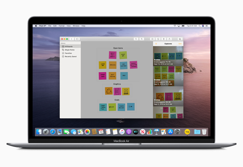 通过 Mac Catalyst 创建的 Post-It app。
