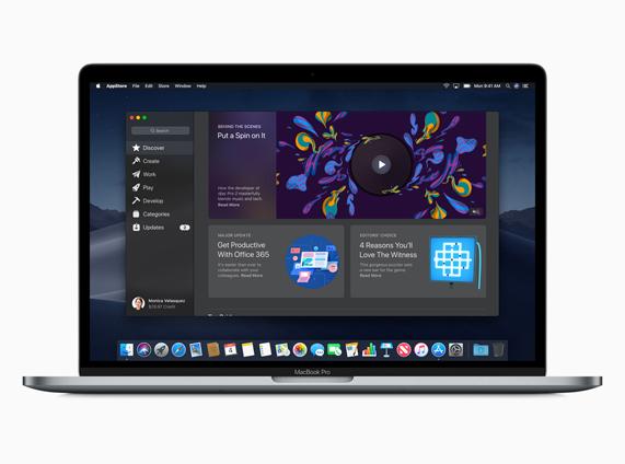 新 Mac App Store 的演示图像