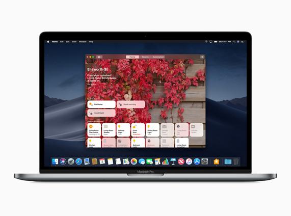 新的 Apple 家庭桌面小组件图像