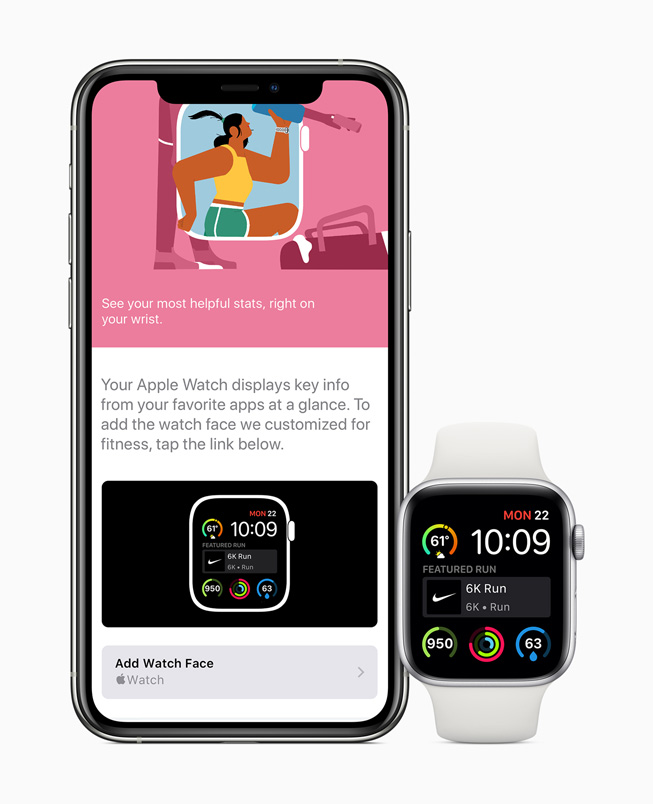 显示在 iPhone 11 Pro 和 Apple Watch Series 5 上的 App Store。