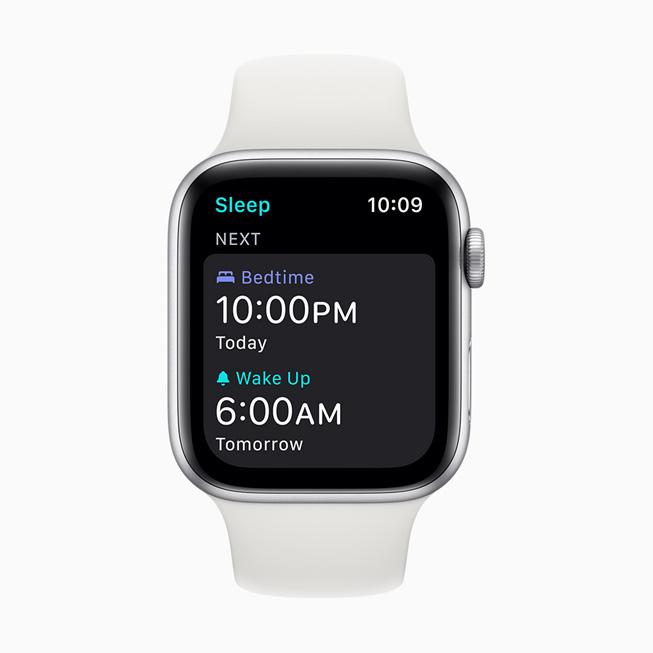 显示在 Apple Watch Series 5 上的叫醒闹钟。