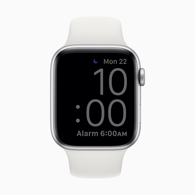 显示在 Apple Watch Series 5 上的调暗屏幕。