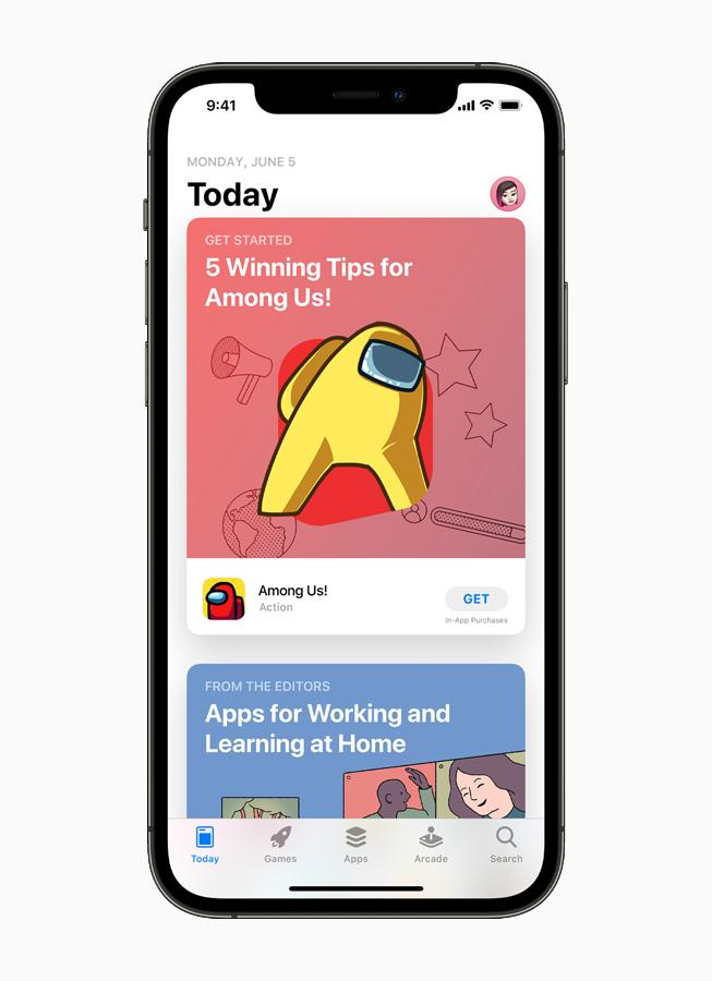 iOS App Store。