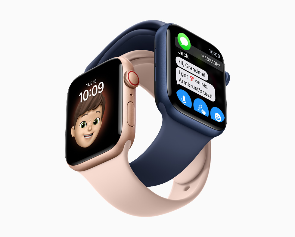 Apple Watch 的拟我表情表盘和信息 app。