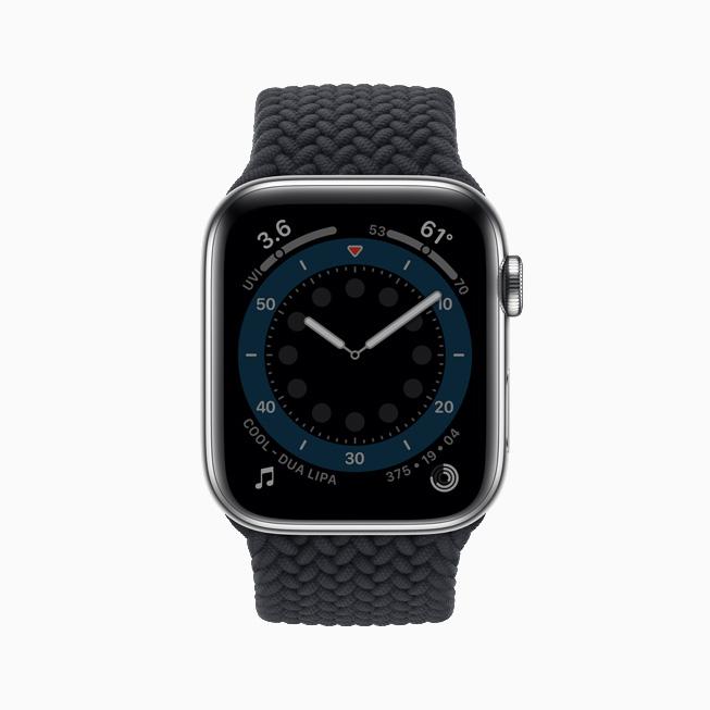 Apple Watch Series 6 的全天候视网膜显示屏。