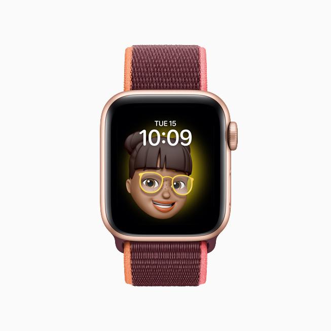 watchOS 7 全新的拟我表情表盘。