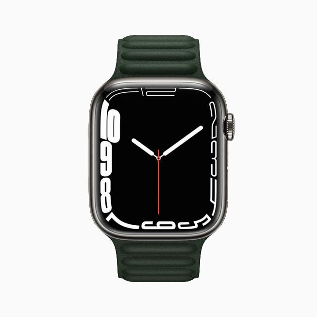 展示环境光表盘的 Apple Watch Series 7。