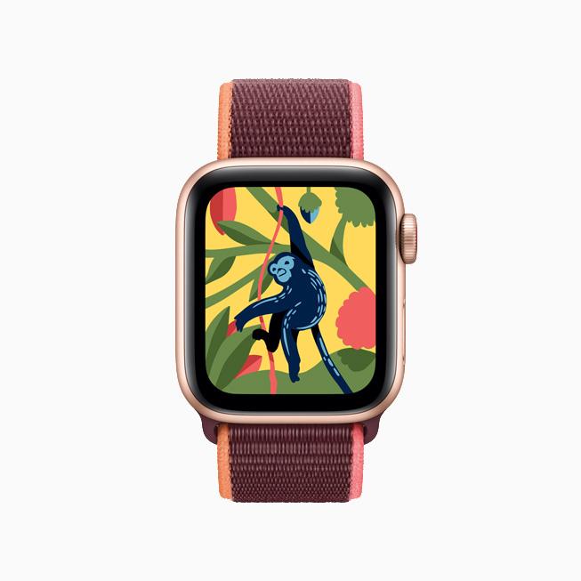 Apple Watch 上为孩子们设计的 Coloring Watch app。