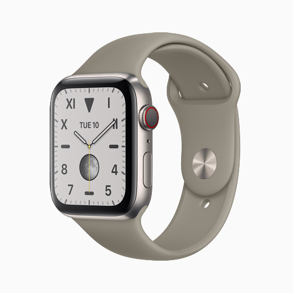 原色钛金属款 Apple Watch Series 5。