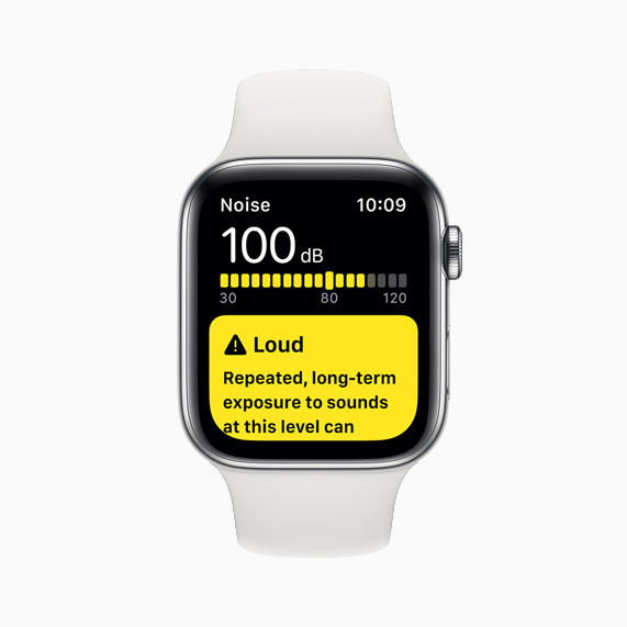 Apple Watch Series 5 上显示的噪声 app。