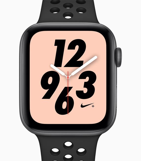 新款 Apple Watch Nike+ 外观照,搭配多款经过重新设计的表盘和表带。