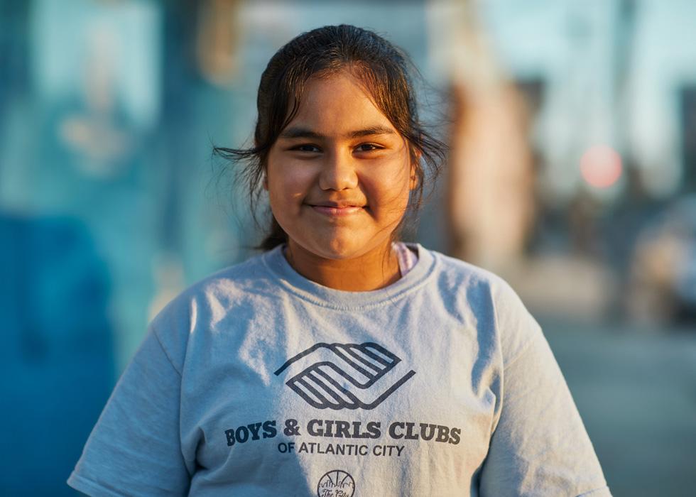大西洋城 Boys & Girls Cub STEAM 实验室的学生 Dulce Santiago。
