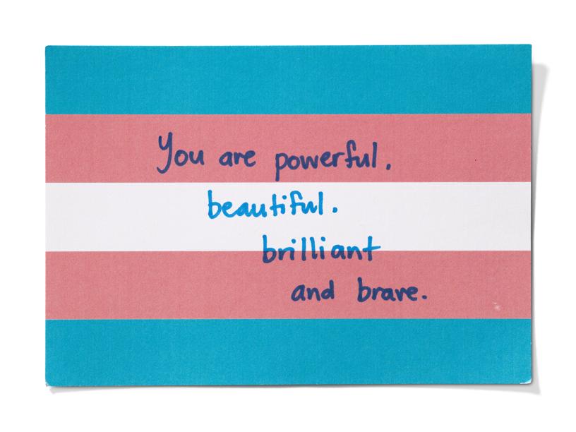 一封来自 Point of Pride 志愿者的手写信。