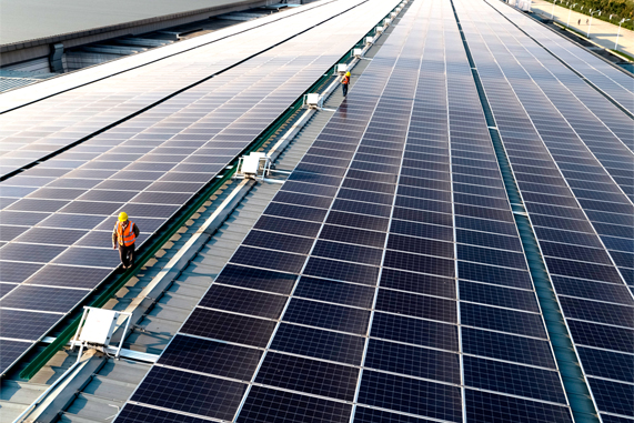 中国四川省的光伏电站。