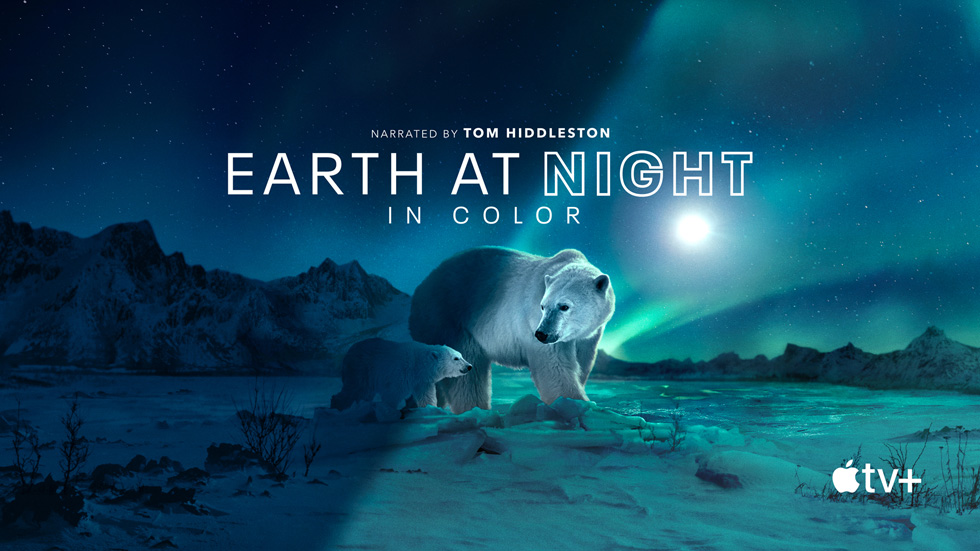 Apple Originals 原创剧集《Earth At Night In Color》的卡片。